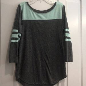 Gray & Mint Cute Shirt